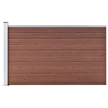 vidaXL Painel de vedação para jardim 180x105 cm WPC castanho 49074