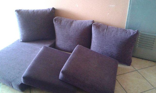 Conjunto de almofadas roxas 2 lugares + chaselong
