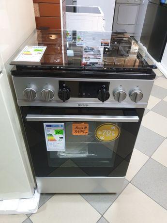 Газова плита з електро духовкою 70 л. gorenje