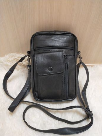 Мужская кожаная сумка органайзер Damart