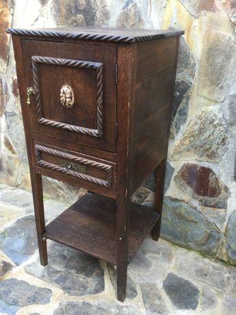 Mesa em madeira Castanho séc XIX gaveta c/ chave 91 cm alt.