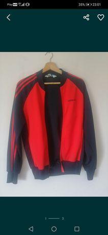 Granatowo czerwona bluza Adidas