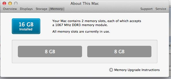 16GB DDR3 pamięć Apple MacBook (Pro), Mac mini, iMac 2009/2010/2011