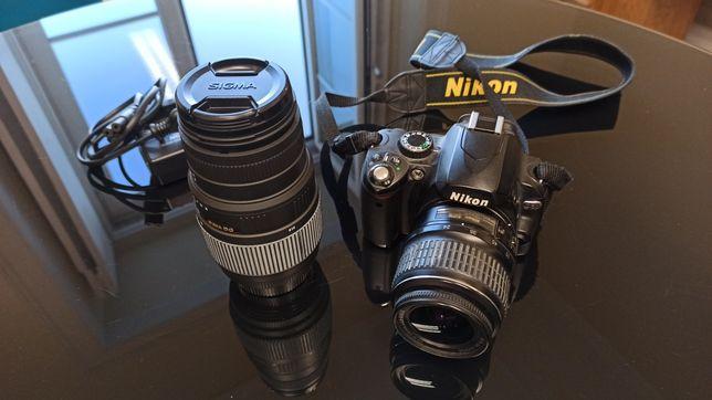 Nikon D60 e Nikkor 18-55 + Sigma 70-300 (Opcional)