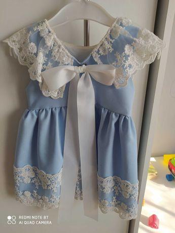Piękna sukieneczka na chrzest