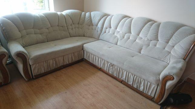 Kanapa narożna z fotelem