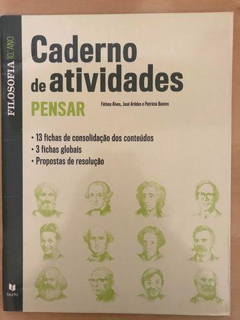 Caderno de atividades de filosofia 10º ano, editora Texto
