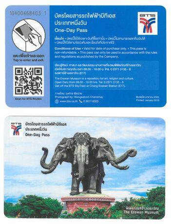 Bilet Karta przejazdowa BTS Bangkok Tajlandia