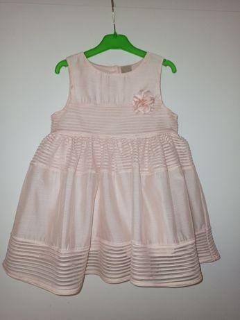 Piękna sukienka dla młodej damy, h&m rozm. 80