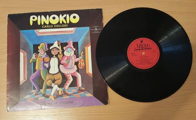 """""""PINOKIO"""", bajka muzyczna, płyta winylowa, analogowa, czarna"""