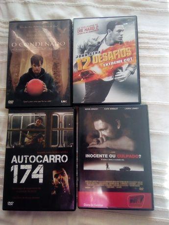 4 filmes diversos em DVD original 1€ cada