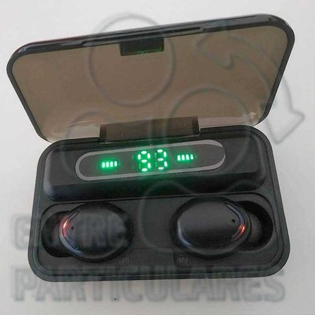 Auriculares TWS Bluetooth 2000mah Estojo PowerBank Fones Ipods P0030P