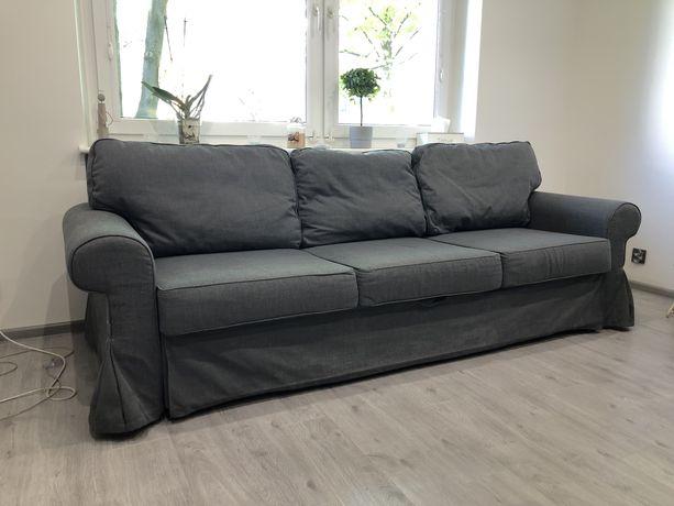 Sofa Evertsberg Ikea 3 osobowa rozkładana kolor szary