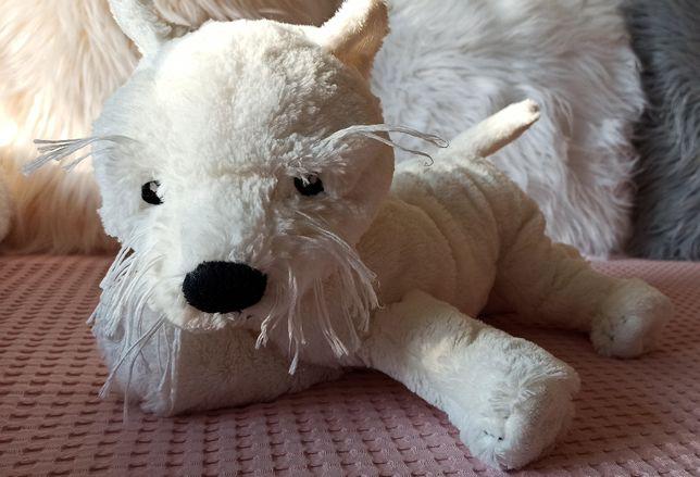 Pies Gosig Terrier Westi IKEA, piesek pluszak przytulanka
