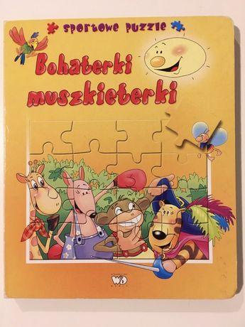 "Książka z puzzlami ""Bohaterki muszkieterki"""