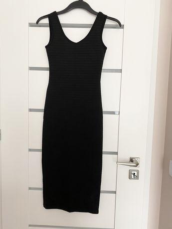 Czarna sukienka midi tuba S