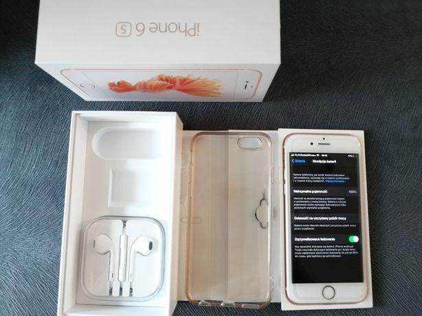 Idealny stan iPhone 6s 128gb rose gold 100% kondycja baterii, okazja