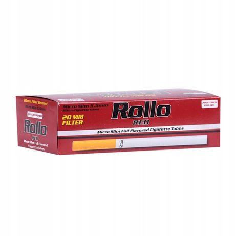 GILZY papierosowe ROLLO RED 200 MICRO SLIM 5,5 mm