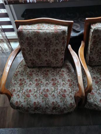 Komplet stylowych mebli fotele kanapa ława