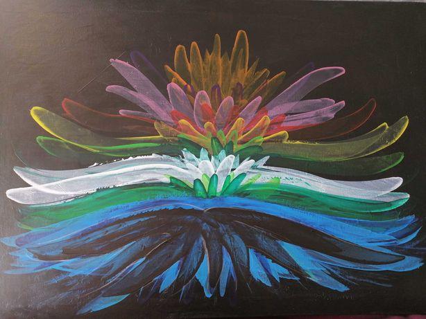 Acrílico em tela 50x70 pintado à mão