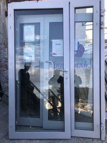 Drzwi podwójne aluminiowe przeciwpożarowe 155/240