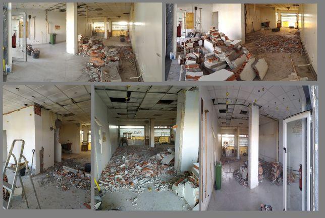 Demolição e roços , recolha e limpeza de entulhos e recheios de casa.