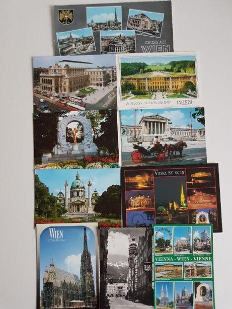Widokówki pocztówki zagraniczne kolekcja 62 szt.
