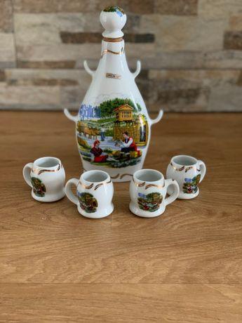 Garrafa e copos Galicia souvenir Novo