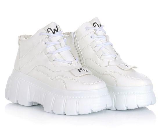 Белые женские ботинки кроссовки зимние зима обувь! 36-41 ХИТ! НАЛОЖКА!