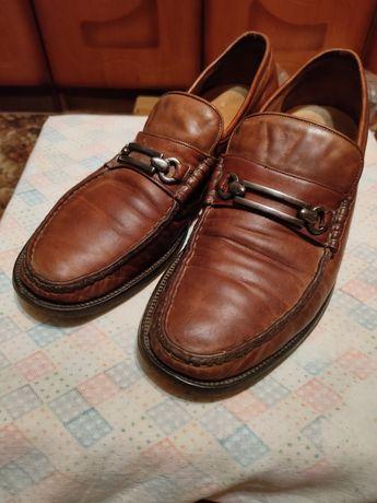 Продам туфли мужские кожаные итальянские Varese 9F c пряжкой 43 размер