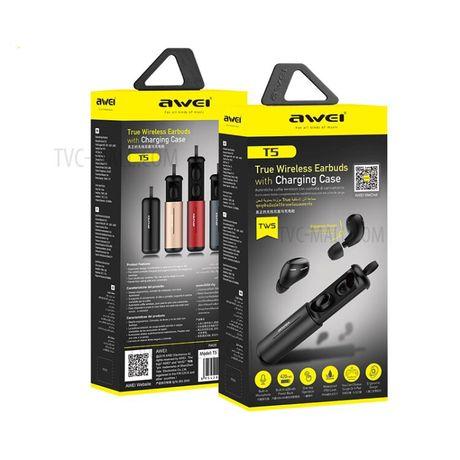 AWEI T5 TWS Wireless Bluetooth Earphones 3D Stereo Waterproof