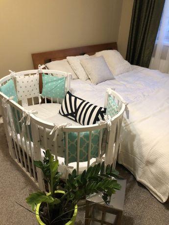 Дитяче овальне ліжко колиска +бортики,простинь і ковдра нова в подарок