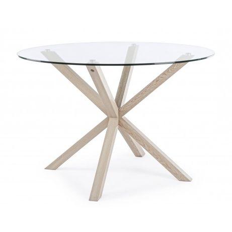 Mesa Jantar 114 diam cruz madeira- NOVO by OVO Home Design