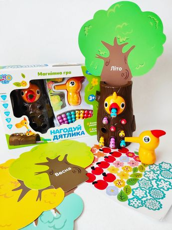 Магнитная игра Нагодуй дятлика Накорми птенца Limo Toy