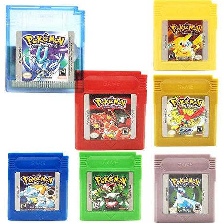 Pokémon Gameboy Color Yellow,Green, Red, Blue, Silver, Crystal,Gold