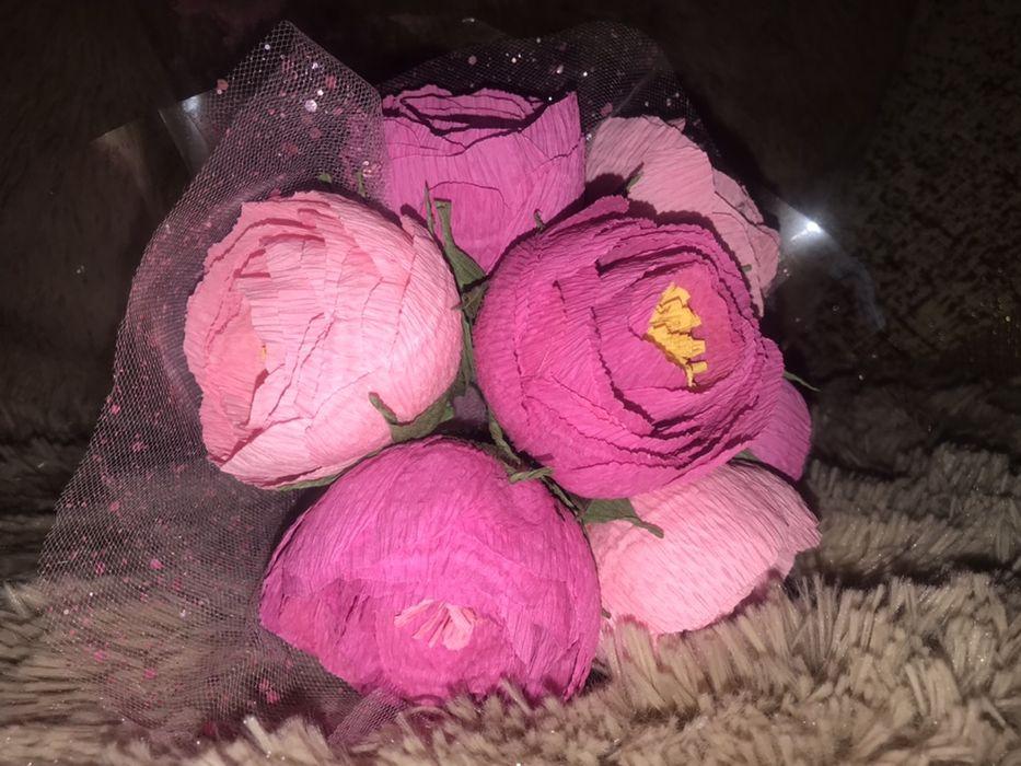 Букеты из гофрированной бумаги / букети з гофрованого паперу / цветы Тернополь - изображение 1