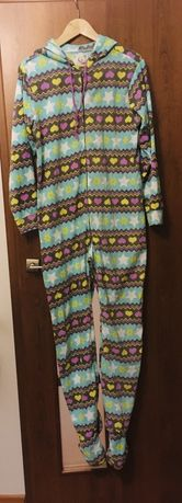 Polarowa piżama pajac z kapturem 168 cm rozm. M