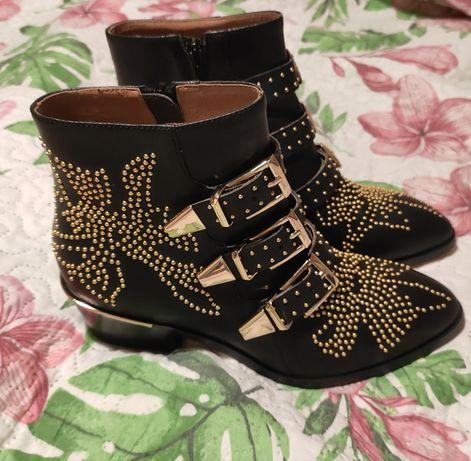 Chloe Susanna Boots botki 38 skórzane