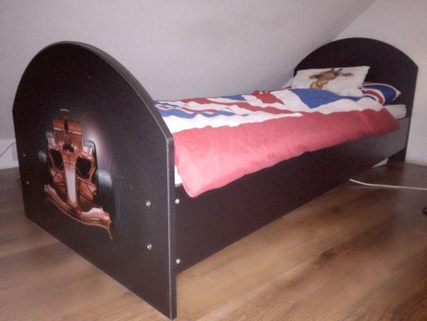 Łózko dla chłopca czarne + materac gratis!