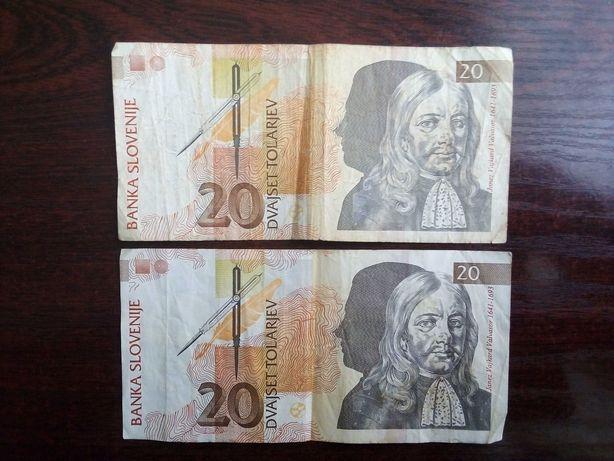 Banknot 20 tolarjev Słowenia