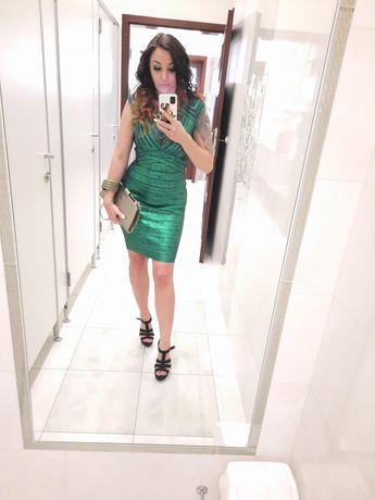 Sukienka sylwester wieczorowa bandazowa elegancka