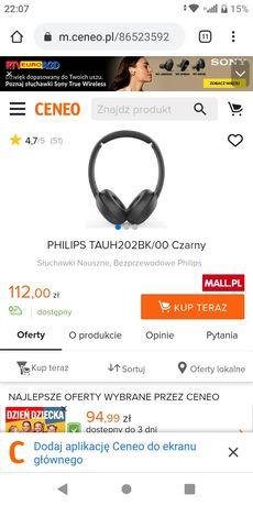 Słuchawki Bluetooth Philips