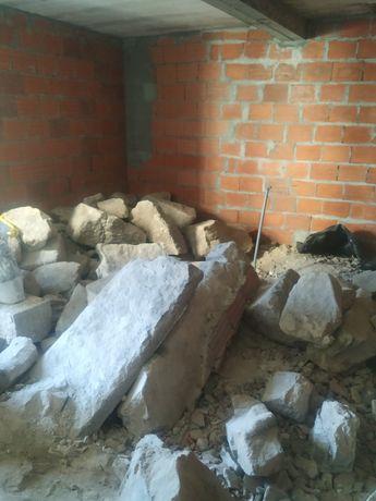 Pedra grande para muro