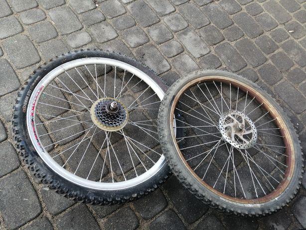 "Koła rowerowe 24"" opony kaseta"