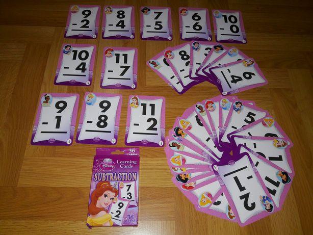 Disney Принцессы Игровые обучающие карты для детей Подарок Для школы