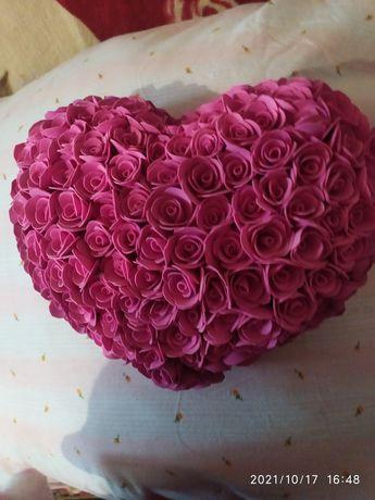 Подарок на день рождения. Сердце из фоамирана