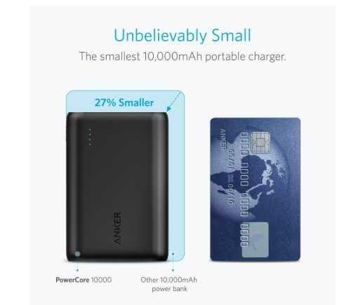 Powerbank Anker 10000 mAH - Pequena dimensão!