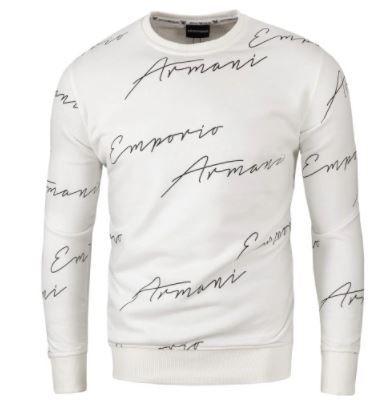 Emporio Armani Bluza Biała Autograf / XL