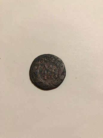 Монета денга 1730 г.