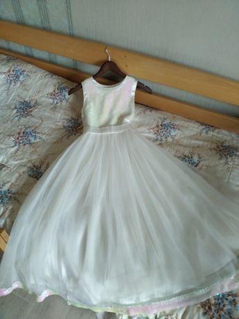 Продам детское бальное выпускное платье Viani и туфли балетки лодочки
